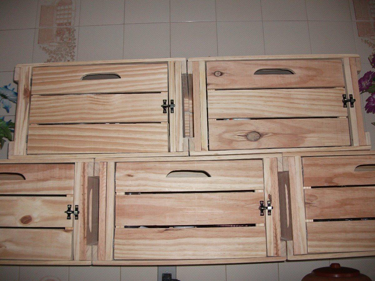 Caixotes De Feira Padrão Com Porta ( Madeira ) Novo R$ 74 99 no  #80624B 1200x900