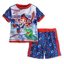 Conjunto Infantil Pijama Jake Terra Do Nunca Camiseta Boneco