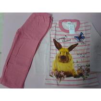 Conjunto Moletom Infantil Feminino 100%algodão Tamanho 2