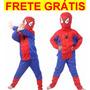 Fantasia Homem Aranha Importada Frete Grátis