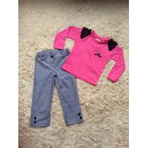Conjunto Infantil Xadrez Pink Nini & Bambini - Tam. 01