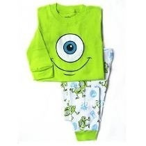 Pijama Infantil Monstros S.a Disney Longo