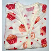 Pijama De Algodão Moda Infantil Feminino De 10 M A 1e1/2 A
