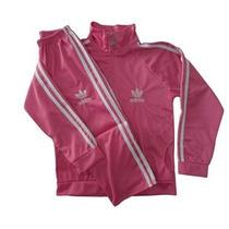 Conjunto Agasalho Adidas Infantil Roupa Feminina