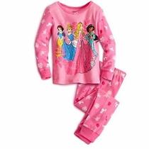 Pijama Rosa Princesas Da Disney Menina Infantil - 5 A 6 Anos