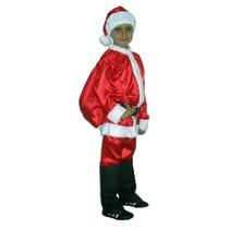 Roupa Fantasia De Papai Noel Infantil - Tamanho M