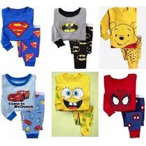 Conjuntos Pijamas Meninos Homem-aranha Batman Carnaval