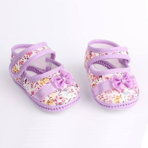 Sapatinhos Bebê Infantil Lindos Floral, Menina Feminino