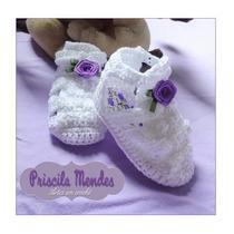Melissinha De Crochê - Sapatinho De Crochê Para Bebê