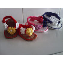 Sandálias De Bebê Em Crochê