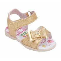 Sandália Carinha De Nene Dourada Para Bebê Varios Tamanhos