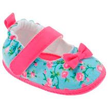 Sapatilha Feminina Bebê - Pink E Azul Lindo!!