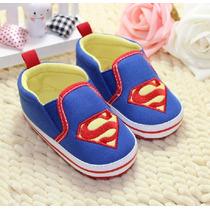 Sapatinho Para Bebê Antiderrapante Infantil Superman Menino