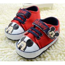Sapatinho Bebê Antiderrapante Infantil Disney Mickey Meninos