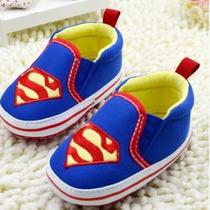 Sapatinho Bebê Menino - Superman E Batmam
