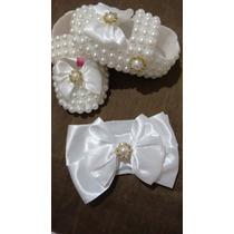 Sapato Infantil Batizado Branco Menina Branco