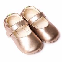 Sapato Boneca Dolly Bronze Tip Toey Joey Bebê