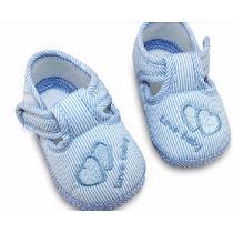 Bebê Sapato Infantil Menino Azul Recém Nascido +brinde