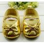 Sapatinho De Bebê Dourado Importado