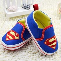 Sapato Tenis De Bebe Menino Super Homem Importado