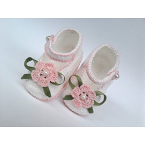 A81 Sapatinhos De Croche Varias Cores Infantil Bebe Menina