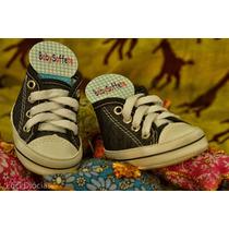 Sapatinho De Bebê Tipo Tenis All Star Enxoval Sapato Jeans