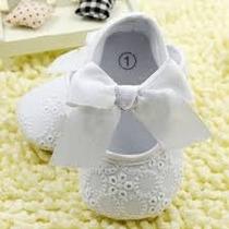 Sapatinho Bebê Menina Recém Nascido Branco Sapato Presente