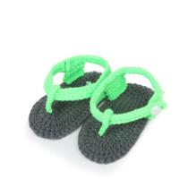 Sandálias Crochê Tricô Recém-nascido Infantil Meninos