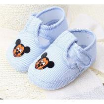 Sapato Sapatinho Bebê Mickey Maternidade Azul Recém Nascido