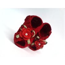 A103 Sandalia De Croche Varias Cores Menina Bebe Infantil