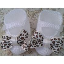 Sapatinho Croche Feminino Bebe Enxoval Menina Frete R$0,10!