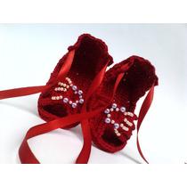 A 190 Sapatinho De Croche Feminino Sandalia Bebe Menina