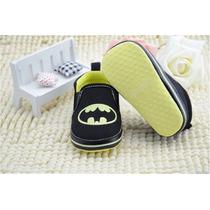 Sapatinho Tênis Bebe Criança Preto Batman 6 A 12 Meses 12 Cm