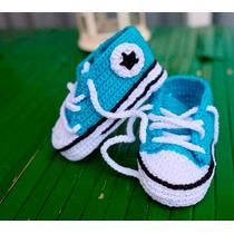Tênis All Star Para Bebês Em Crochê