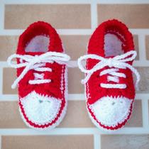 Sapatinho Crochet All Star Tenis Croche Bebe