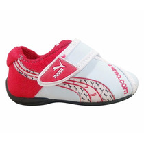 Tênis Puma Bebê Branco E Vermelho Promoção Imperdível !!!