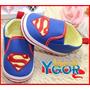 Tênis Infantil Bebê Superman Bordado - Pronta Entrega