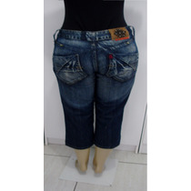 Calça Jeans Femina Capri Marca Osmoze Tamanho 42 S/strech S4