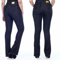 Calça Sawary Jeans Levanta Bumbum Cintura Média Flare