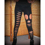 Leggings Customizadas Rasgadas Moda Rock Motociclista