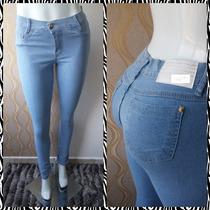 Calça Jeans Feminina, Cintura Alta, Levanta Bumbum