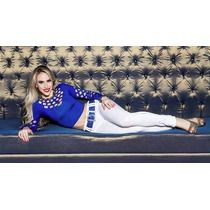 Pit Bull Pitbull Calças Jeans Branca Feminina Ref 16304