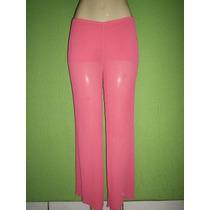 Calça Pantalona Crepe De Seda Tamanho 42