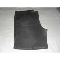 Bermuda Jeans Preta - Tam. 54 - Feminina - Strech