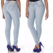 Calça Jeans Sawary Modela E Levanta Bumbum Com Bojos Média