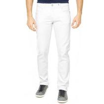 Calça Jeans Branca Preta Masculina Sarja C Lycra Até Nº 58