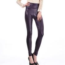 Legging Importada - Cirré - Brilhante - Imita P U - Violeta