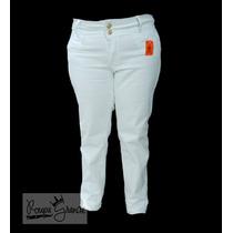 Calça Branca-sarja C/ Lycra-feminina-48-50-52-54-56-58-60-62