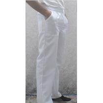 Calça, Elástico,branca,azul,uniforme,3 Bolsos,tergal,jaleco