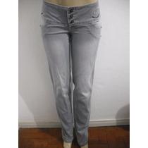 Calça Jeans Cinza Tam 42, Excesso, Usado Bom Estado